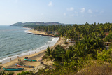 View over Anjuna Beach  Goa  India  Asia