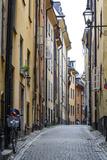 Street Scene in Gamla Stan  Stockholm  Sweden  Scandinavia  Europe