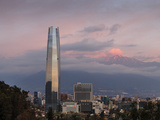 View over the Gran Torre Santiago from Cerro San Cristobal  Santiago  Chile  South America