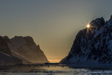 Sunset over Booth Island in the Waters of the Lemaire Channel  Antarctica  Polar Regions