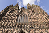 West Front  Lichfield Cathedral  Lichfield  Staffordshire  England  United Kingdom