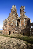 The Ruin of Newark Castle on the Fife Coast Path Near St Monans  Fife  Scotland  UK