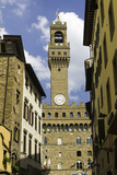 View Towards the Tower of the Palazzo Vecchio  Florence  Tuscany  Italy