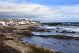 St Monans Fishing Village and Harbour from the Fife Coast Path  Fife  Scotland  UK