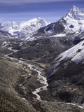 The Chola Valley in Sagarmatha National Park  UNESCO World Heritage Site  Himalayas  Nepal  Asia