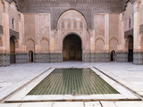 Central Courtyard and Pool  Medersa Ali Ben Youssef  Medina  Marrakesh  Morocco