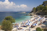 Beach Crowded with Holidaymakers  Kassiopi  Corfu  Ionian Islands  Greek Islands  Greece  Europe