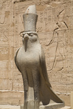 Granite Falcons  Pylon  Temple of Horus  Edfu  Egypt  North Africa  Africa
