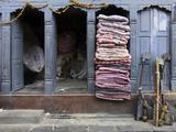 Traditional Fabric Shop in Kathmandu  Nepal  Asia