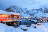 A Rorbu  the Typical Norwegian Home  Lofoten Islands  Arctic  Norway