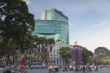 Traffic Passing Diamond Plaza  Ho Chi Minh City  Vietnam  Indochina  Southeast Asia  Asia