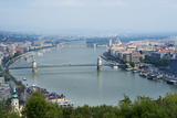 Panoramic View of Danube River and the Buda and Pest Sides of the City from the Citadel