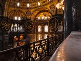 Interior of Hagia Sofia (Aya Sofya)  Sultanahmet  Istanbul  Turkey
