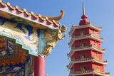 Pagoda at Ten Thousand Buddhas Monastery  Shatin  New Territories  Hong Kong  China  Asia