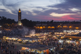 Djemaa El Fna Square and Koutoubia Mosque at Sunset