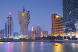 Grand Lisboa and Wynn Hotel and Casino at Dusk  Macau  China  Asia