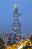 Bitexco Financial Tower at Dusk  Ho Chi Minh City  Vietnam  Indochina  Southeast Asia  Asia