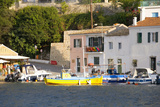 View across the Colourful Harbour  Loggos  Paxos  Paxi  Corfu  Ionian Islands  Greek Islands