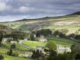 View of the Village of Langthwaite in Arkengarthdale  Yorkshire  England  United Kingdom