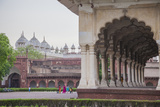 View of the Courtyard of the Taj Mahal One of the Most Remarkable Sights of Muslim Architecture