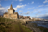 The Auld Kirk from the Fife Coast Path at St Monans  Fife  Scotland  United Kingdom  Europe