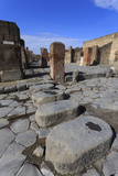 Cobbled Street Stepping Stones  Roman Ruins of Pompeii  UNESCO World Heritage Site  Campania  Italy