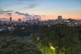 Coastal Area Skyline at Sunset  Fukuoka  Kyushu  Japan