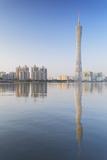 Canton Tower  Tian He  Guangzhou  Guangdong  China  Asia