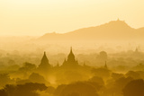 Temples  Pagodas and Stupas Rising Out of Misty Morning Landscape at Dawn  Bagan (Pagan)
