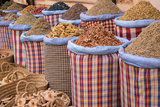 Bags of Herbs and Spices for Sale in Souk in the Old Quarter  Medina  Marrakesh  Morocco