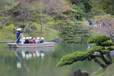 Tourists on Boat in Ritsurin-Koen  Takamatsu  Shikoku  Japan