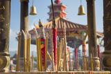 Incense Sticks at Ten Thousand Buddhas Monastery  Shatin  New Territories  Hong Kong  China  Asia