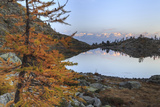 Sunrise on Mount Rosa Seen from Lac Blanc