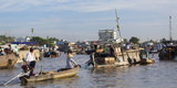 Cai Rang Floating Market  Can Tho  Mekong Delta  Vietnam  Indochina  Southeast Asia  Asia
