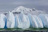 Wind and Water Sculpted Iceberg in Orne Harbor  Antarctica  Polar Regions