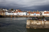 Stormy Skies over St Monans Harbour  Fife  Scotland  United Kingdom  Europe