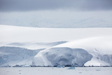 Snow Covered Mountains and Glaciers in Dallmann Bay  Antarctica  Polar Regions