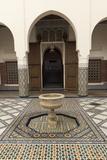 Courtyard  Museum of Marrakech  Medina  Marrakesh  Morocco  North Africa  Africa