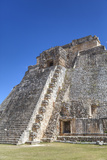 Pyramid of the Magician  Uxmal  Mayan Archaeological Site  Yucatan  Mexico  North America