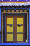 Door at the Buddhist Monastery in Tengboche in the Khumbu Region of Nepal  Asia