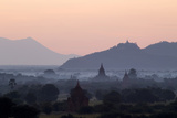 Temples  Pagodas and Stupas in Early Morning Mist at Sunrise  Bagan (Pagan)  Myanmar (Burma)