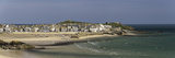 Panoramic Picture of the Popular Seaside Resort of St Ives  Cornwall  England  United Kingdom