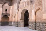 Doorway  Medersa Ali Ben Youssef (Madrasa Bin Yousuf)  Medina  Marrakesh  Morocco
