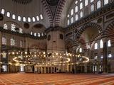 Interior of Suleymaniye Mosque  Istanbul  Turkey