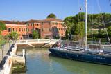 Armenian Monastery  San Lazzaro Degli Armeni  and Armenian Sail Boat  Venice  Veneto  Italy