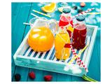 Colorful Juices & Azure Picnic Reproduction d'art