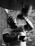 Boxing Champ Joe Frazier Working Out for His Scheduled Fight Against Muhammad Ali