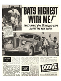 Dodge Ad With Joe Dimaggio