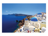 Blue Domed Santorini Churches