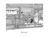 """""""Tap is fine"""" - New Yorker Cartoon"""